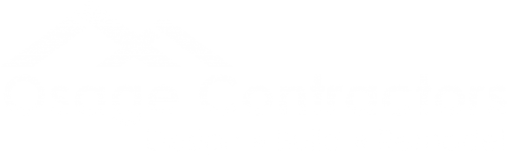 Osage Contractors LLC white logo