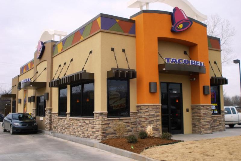 Osage contractors project taco bell building